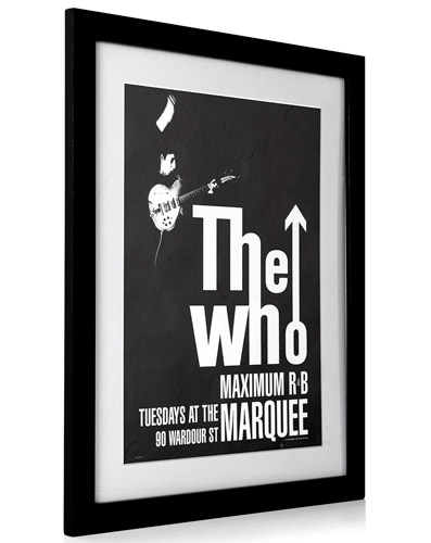 The Who Maximum R&B framed poster at BHS