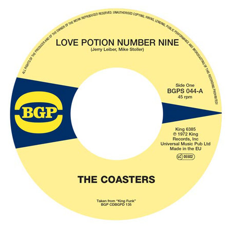 Reissue 45: The Coasters – Love Potion Number Nine / Cool Jerk on BGP