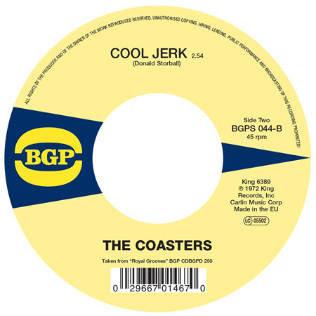 Reissue 45: The Coasters - Love Potion Number Nine / Cool Jerk on BGP