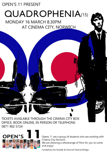 Quadrophenia cinema screening in Norwich