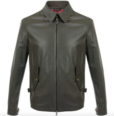 Baracuta G4 Harrington shirt collar jacket returns in leather