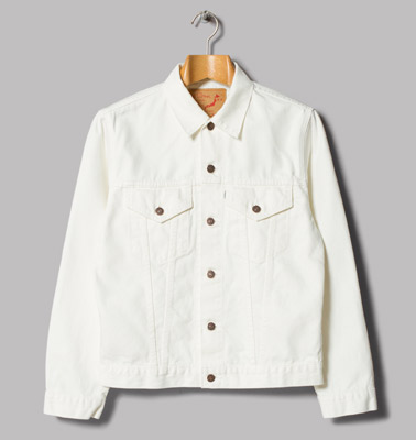 Premium take on a classic: OrSlow 60s white denim jacket