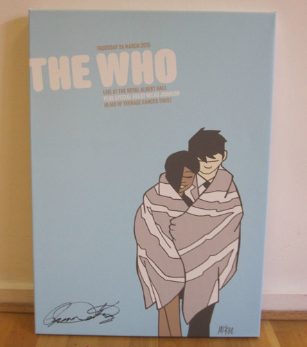 The Who one-off canvas print by Pete McKee - signed by Roger Daltrey