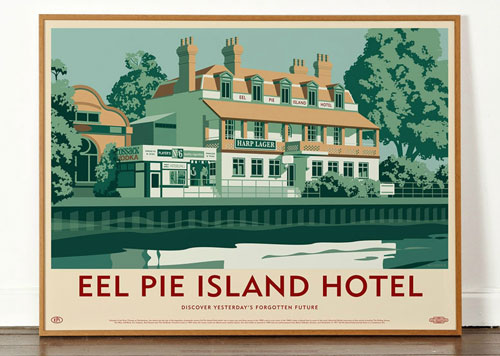 Dorothy's Lost Destination artwork takes in the Wigan Casino and Eel Pie Island Hotel