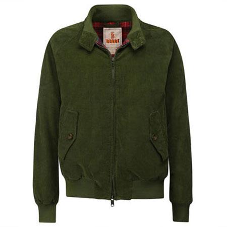 Italian corduroy Baracuta G9 harrington jackets