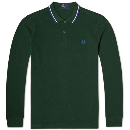 Back on the shelves: Fred Perry long sleeve twin tipped polo shirt