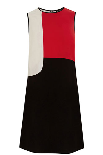 10. Colour Block Shift Dress at Warehouse