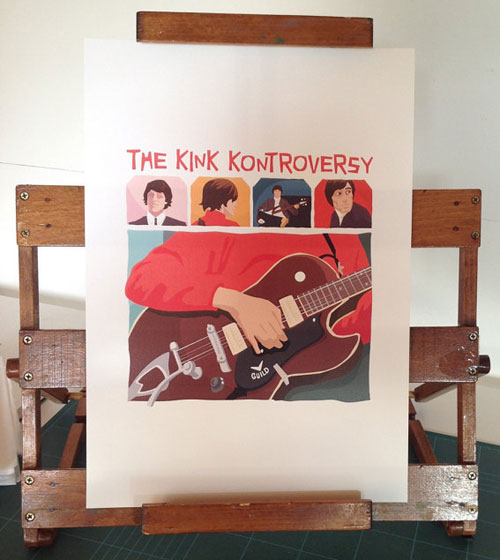 The Kink Controversy A3 art print by Hand Drawn Creative