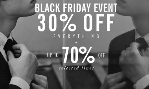 Ben Sherman Black Friday sale event