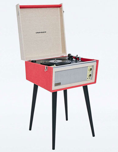 1960s-style UO X Dansette Bermuda standing record player discounted as a Black Friday deal