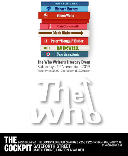 The Who Writer's Literary Event in London