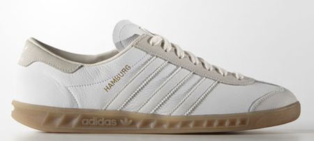 Adidas Hamburg trainers return in a white leather finish