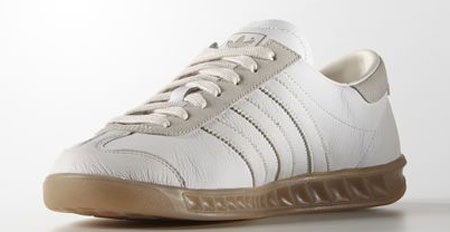 Adidas Hamburg trainers in a white leather finish