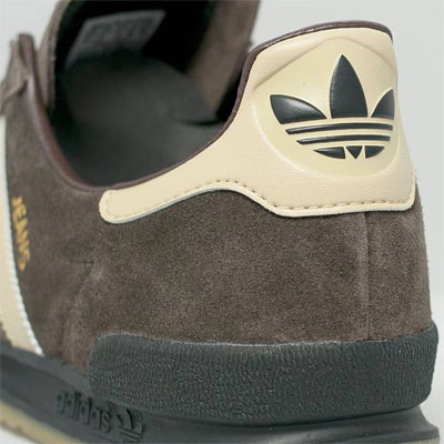 1970s Adidas Jeans MKII trainers back in brown suede