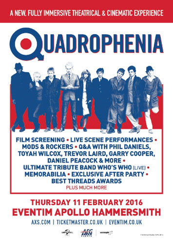 Fully immersive Quadrophenia screening at the Hammersmith Apollo London