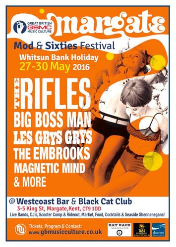 Margate Mod and 60s Festival on Whitsun Bank Holiday
