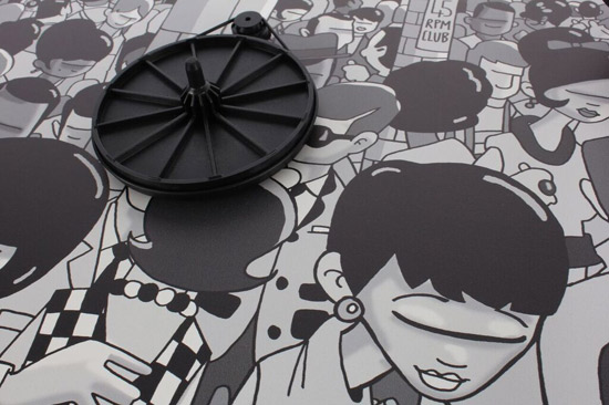 Pete McKee designs mod club-inspired Rega Club turntable for Record Store Day