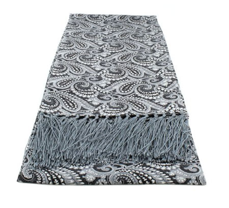 Tootal alternative: Narrow all over paisley silk scarves by Michelsons of London