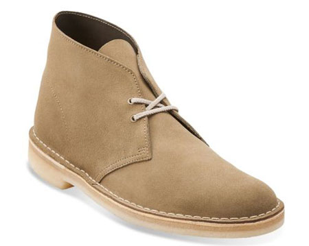 Discounted desert boots in Clarks Outlet summer clearance