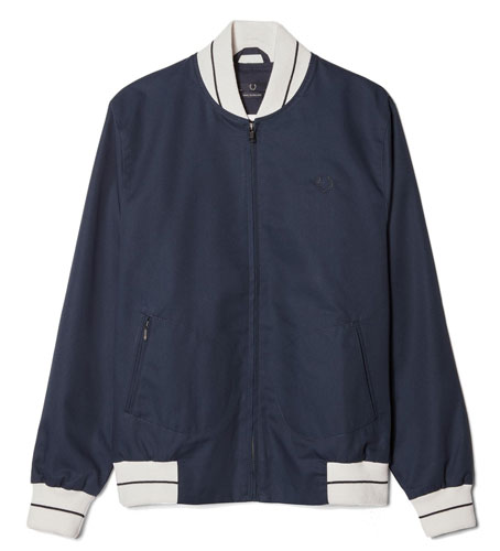 Fred Perry Laurel Wreath Tipped Tennis Bomber Jacket