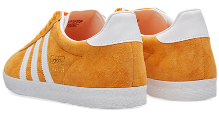 Adidas Gazelle OG trainers return in a bright orange suede finish