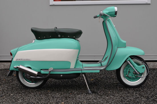Fully restored Italian 1967 Lambretta Li 125 scooter