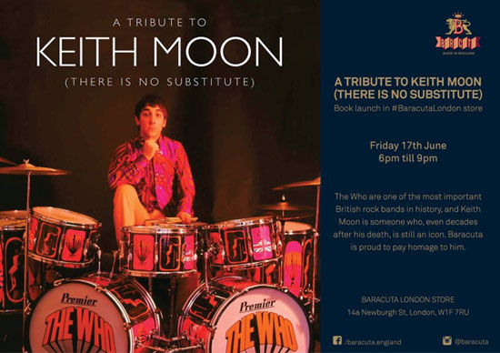 Keith Moon book launch at The Baracuta Store in London