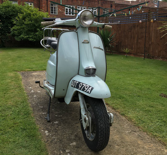 As seen on TV: 1963 Lambretta Li 125 Series 3 from AXA advert on eBay