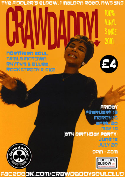 Crawdaddy monthly night in London