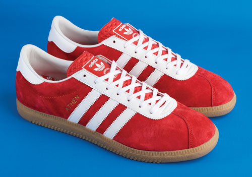 Landing this week: 1960s Adidas Originals Athen trainers in red suede
