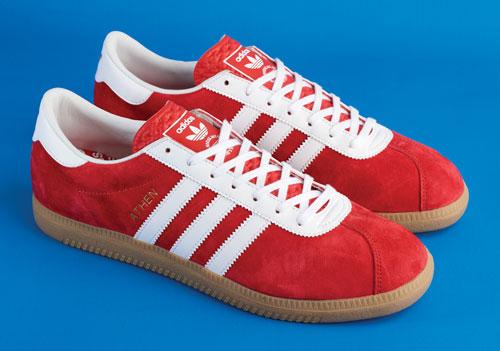 1960s Adidas Originals Athen trainers in red suede