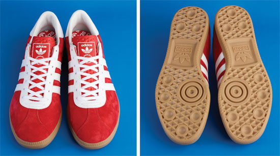 1960s Adidas Originals Athen trainers in red suede
