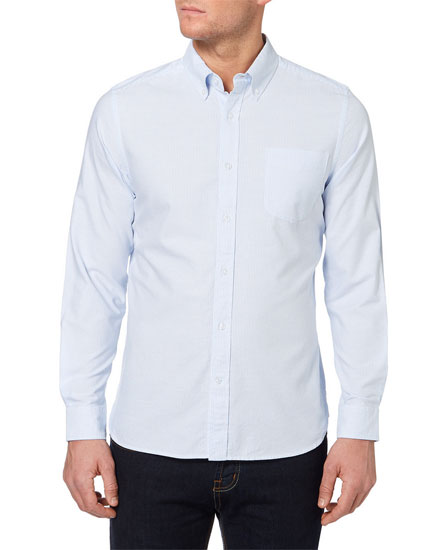 Tip off: Budget Bengal Stripe Oxford Shirts at Sainsburys