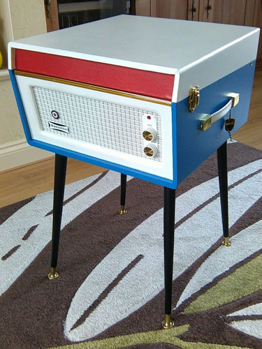 Mod-themed Dansette Bermuda record player on eBay