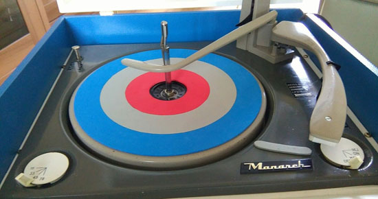 Mod-themed Dansette Bermuda record player on eBay