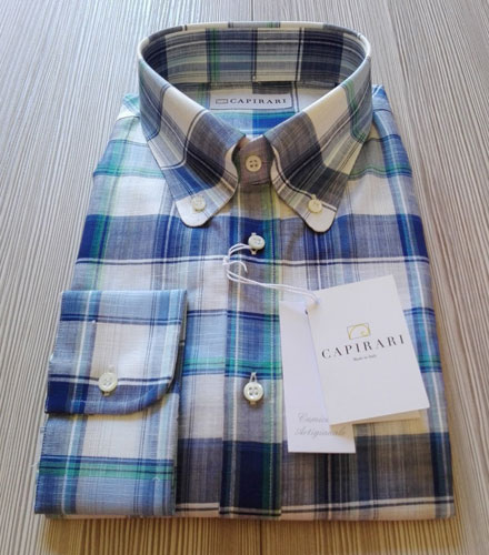Capirari limited edition linen button-down shirts
