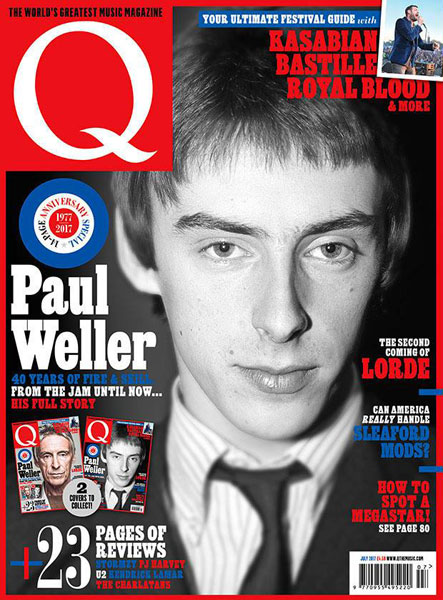 Two Paul Weller covers available for latest Q magazine