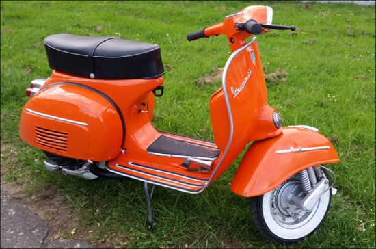 Restored 1967 Vespa 180 SS scooter on eBay
