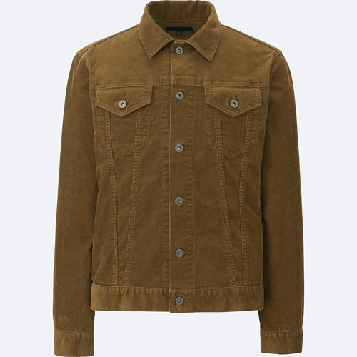 On a budget: Vintage-style brown cord jacket at Uniqlo
