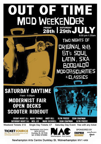Out Of Time Mod Weekender in Wolverhampton