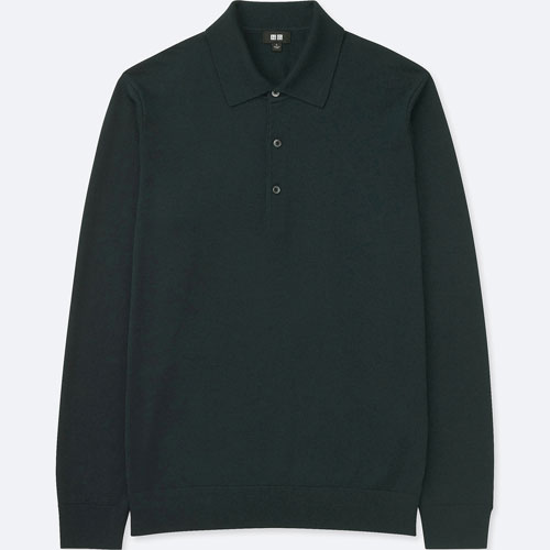 On a budget: Three-button Merino wool polo shirts at Uniqlo