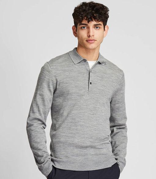 On a budget: Extra fine merino polo shirts at Uniqlo