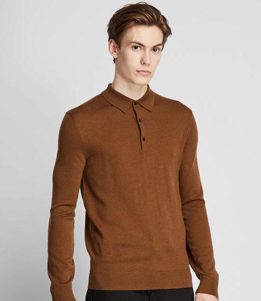 On a budget: Extra fine merino polo shirts at Uniqlo