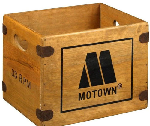 Wooden classic record label crates on eBay