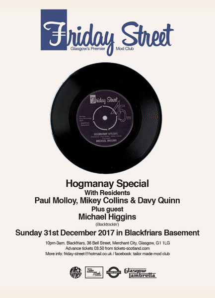 Friday Street Hogmanay Special 2017 in Glasgow