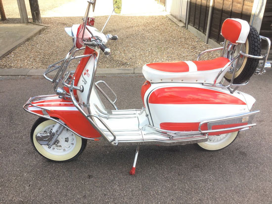 Fully restored 1962 Lambretta TV175 scooter on eBay