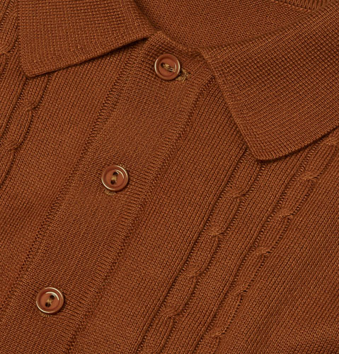 1960s reissue: Fred Perry Cable Knitted Shirt
