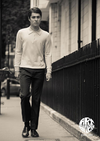 Style Mason Knitted Polo Shirt 100% Merino Wool £75