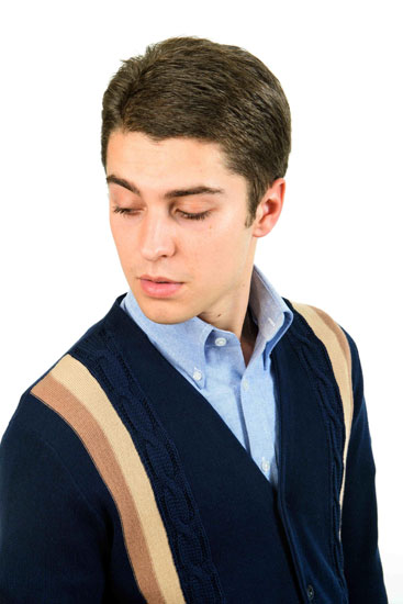 Style Gus Knitted V-Neck Cardigan 100% Cotton £79