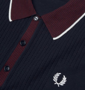 1960s reissue: Fred Perry pointelle design knitted shirt